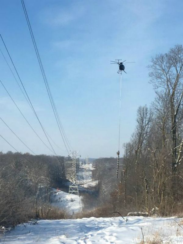 helicopter saw transmission vegetation clearance