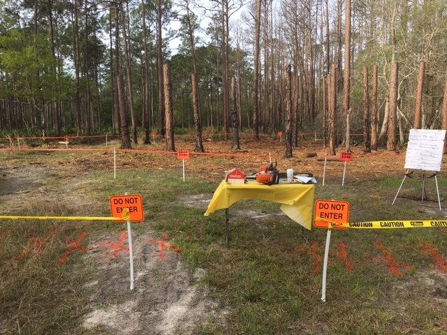 Drop zone and work zone protection during training session