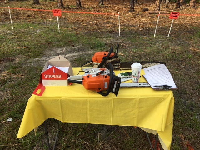 Safety sign in sheet and chainsaws