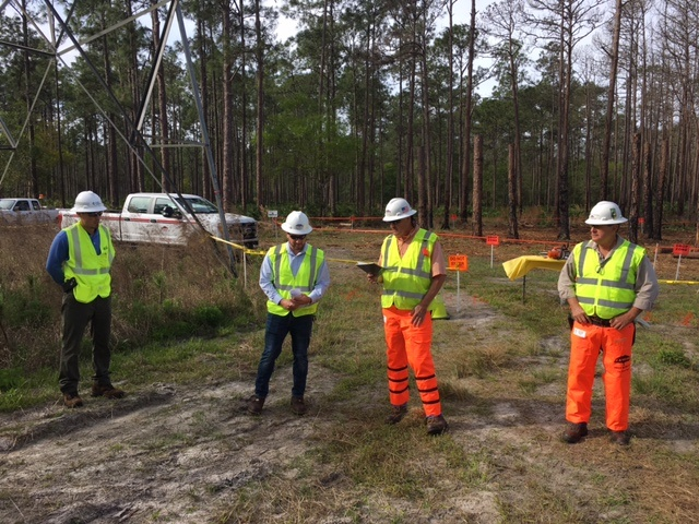 Field safety training off utility right-of-way