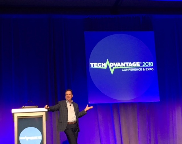 Jim Carroll, future, speaking at TechAdvantage 2018